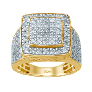 10K 2.20CT D-RING MENS RDS 8F