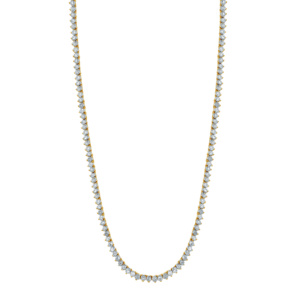 """10K 1.59-1.69CT D-NECKLESS MENS RDS P1 18"""" 300MM"""