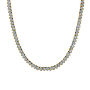 """10K 1.84-1.99CT D-NECKLESS MENS RDS 22"""" P07 250-300MM"""