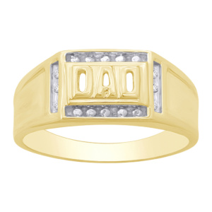 10K 0.03CT D-RING MENS RDS **DAD**