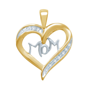 "10K 0.07-0.09CT D-PENDANT LDS RDS ""MOM"""