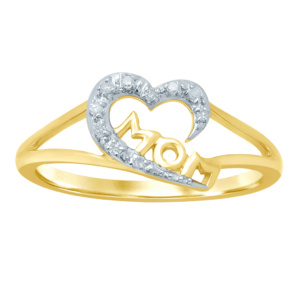 """10K 0.05-0.06CT D-RING LDS RDS """"MOM"""""""