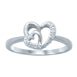 "10K 0.10-0.11CT D-RING LDS RDS ""HEART"""