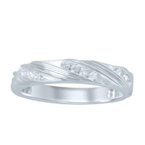 10K 0.25-0.26CT D-RING BAND MEN'S RDS