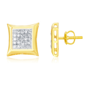 """925 SS 0.15CT D-EARRING RDS MP """" KITE """""""