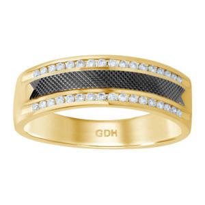 14K 0.21-0.31CT D-MACHINE DIAMOND CUT BAND MEN RDS