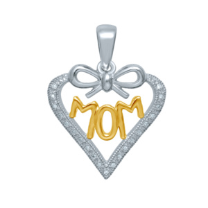 10K 0.05- 0.07CT D-PENDANT LDS RDS MOM