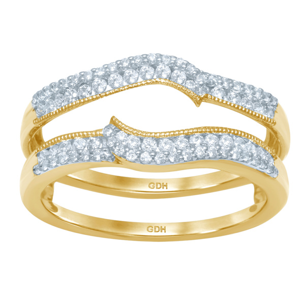 14K 0.38-0.40CT D-RING GUARD LDS RDS