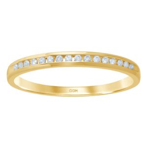 14K 0.09-0.11CT D-RING BAND MACHINE LDS RDS 16 STONES