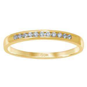 14K 0.10-0.11CT D-RING BAND MACHINE LDS RDS