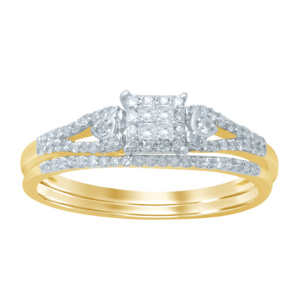 14K 0.26-0.27CT D-BRIDAL SET PCT/RDS
