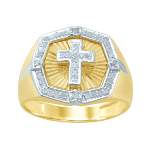 10K 0.25-0.31CT D-RING MENS RDS