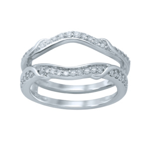 10K 0.27CT D-RING GUARD LDS RDS