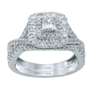 14K 1.10-1.11CT D-BRIDAL SET PCTRDS CNTR 0.32-0.33CT