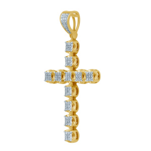 10K 0.24-0.25CT D-PENDANT MEN RDS