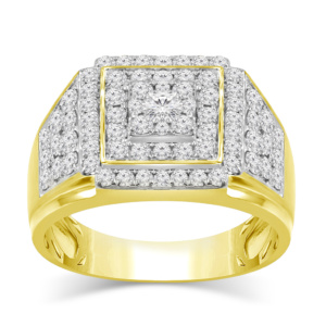 10K 2.17-2.20CT D-RING MEN RDS